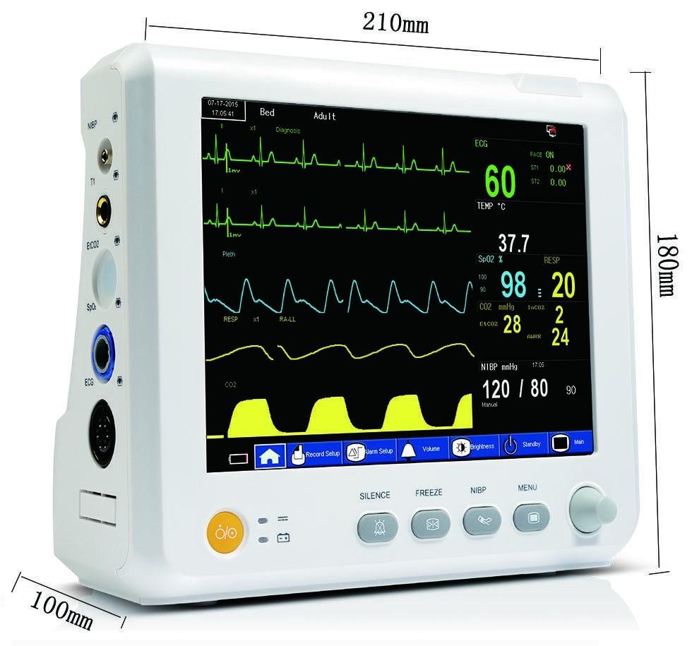 M8 ICU Modular Patient Monitor parameter NIBP,Spo2, PR,ECG,RESP,TEMP Patient Monitor цены онлайн