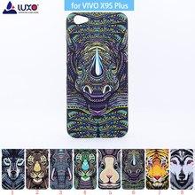 LUXO Rei Da Floresta Animais Asteca Rostos Lobo Leão Coruja Padrão Rígido Impressão tampa do Telefone Caso Protetora para BBK vivo X9S X9S Plus