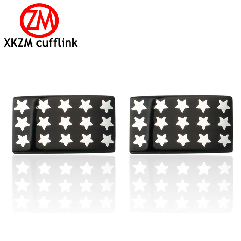 US $2 49 28% OFF|Formal black square stars Cufflink for Mens Suits Buttons  Geometric Wedding Cufflink French Grooms Shirt Brand Cuff Links-in Tie