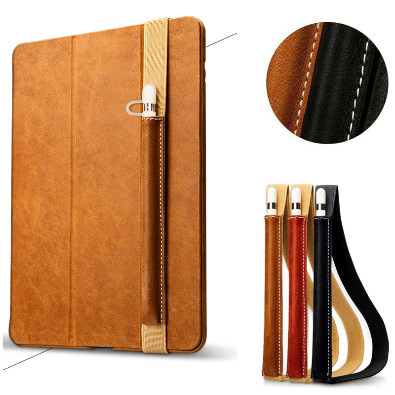 For Apple Pencil Holder Case Leather Bag,Pouch Cover Detachable Tablets for iPad Pro 12.9 10.5 9.7 2017 Stylus Pen Pocket Sleeve faux pu leather case cover sleeve pouch holder for apple ipad pro 9 7 10 5 12 9 pencil anti lost tablets touch protector