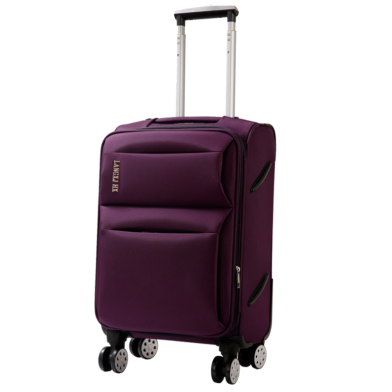 Wholesale!20 22 24 26 28inches oxford silk cloth trolley luggage on universal wheels,male and female black/brown/purple/blue bag