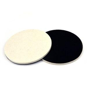 Image 4 - POLIWELL 2PCS 1/2/3/5/6/7 Inch Massaal Wolvilt Polijstschijf slijpen Schuren Disc High density Klittenband Polijsten Pads