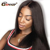 Peruvian Straight 360 Lace Frontal Wig Pre Plucked With Baby Hair Gossip Lace Front Human Hair