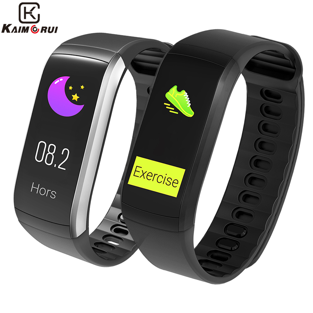 Kaimorui Fitness Bracelet KR02 Smart Bracelet GPS IP68 Waterproof Smartband Heart Rate Monitor Watch Activity Tracker for Xiaomi maxinrytec kr02 fitness bracelet ip68 waterproof gps smart band heart rate monitor activity tracker watch pk mi band 3 for men