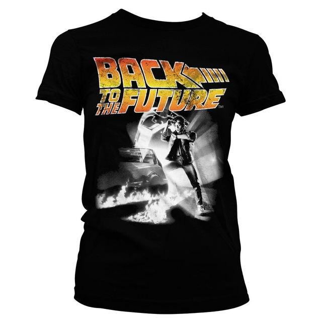 989a31b3c6b2 Camiseta de mujer con licencia oficial volver al futuro póster S XL tamaños  diseño camisetas novedad Tops Tee 100% algodón dormir