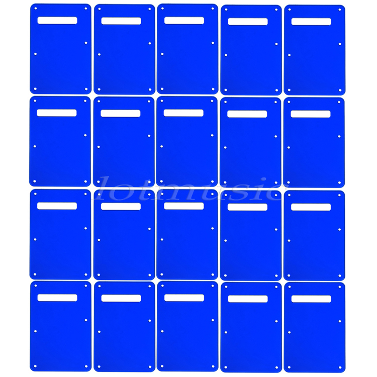 20Pcs Blue Mirror Trem Cover Tremolo Back Plate Cavity Cover For Fender Strat Guitar Replacement original a1706 a1708 lcd back cover for macbook pro13 2016 a1706 a1708 laptop replacement