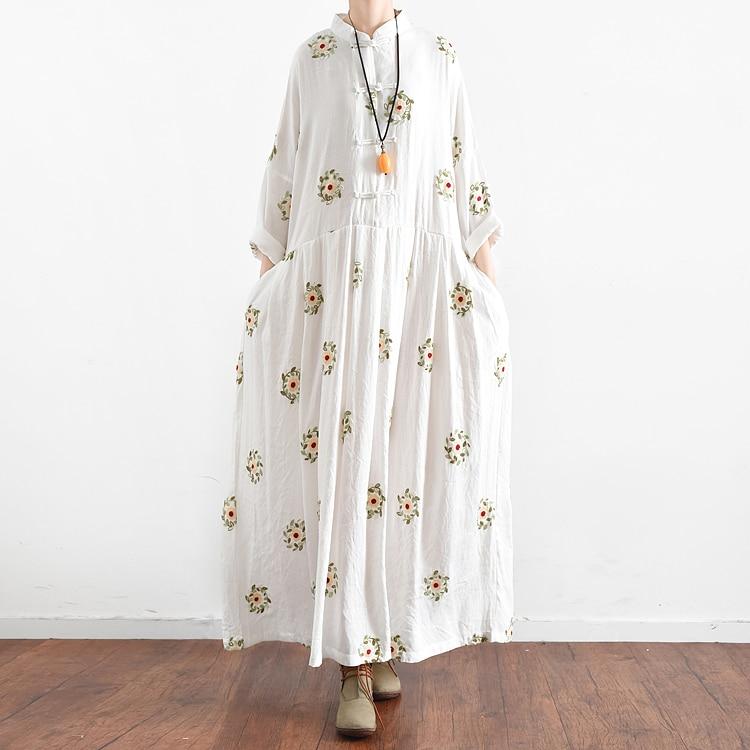 Baru Jepang Mori Gadis Bunga Bordir Lengan Panjang Gaun Kawaii Lolita - Pakaian Wanita