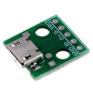 Image 2 - 10 sztuk Micro Usb do adaptera Dip 5Pin złącze żeńskie typu B Pcb konwerter