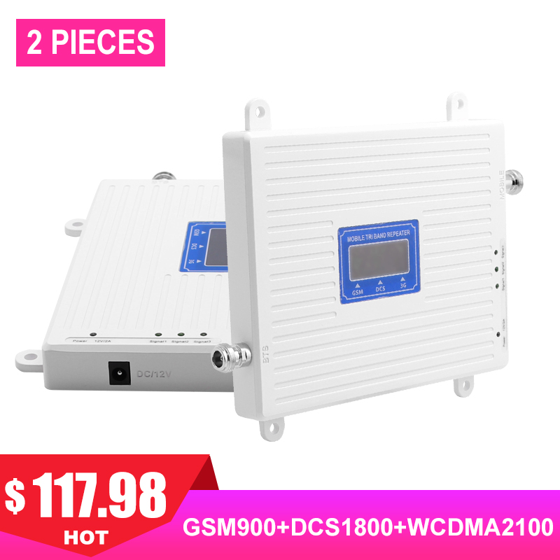 4g répéteur tri bande 900 1800 2100 mhz gsm ALC répéteur téléphone cellulaire booster écran LCD 4g booster de signal gd900 répétidor #