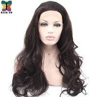 Волос SW длинные волнистые натуральный черный 1b химическое Синтетические волосы на кружеве парик бесклеевого половины руки связали носили ...