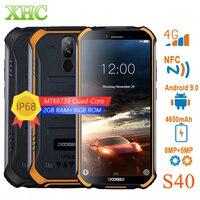 DOOGEE S40 2GB+16GB Mobile Phone Waterproof 4650mAh Dual Back Cameras 5.5 inch Android 9.0 MTK6739 Quad Core Smartphone Dual SIM
