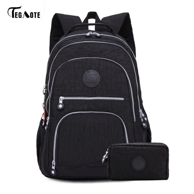 TEGAOTE 2pcs/set School Backpack for Teenage Girls