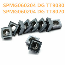 Tungsten Carbide SPMG060204 DG TT9030 / 8020 Internal Turning Tool Insert CNC Lathe