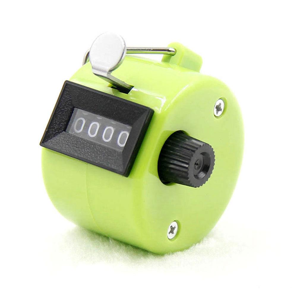 4-разрядный счетчик ручной счетчик Гольф-кликер Талли Портативный Механические универсальный - Цвет: green