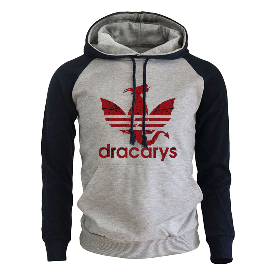 Dracarys Dragon Print Mens Game Of Thrones Hoodie Fleece Fashion Brand Sweatshirt Male Hot Sale Pullover Harajuku Streetwear Top