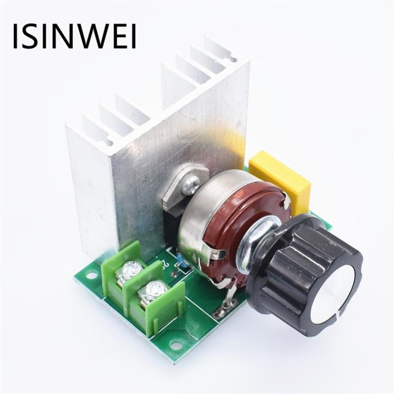 Voltage Regulator Voltage Speed Controller AC 220V 4000W SCR Dimmer цена