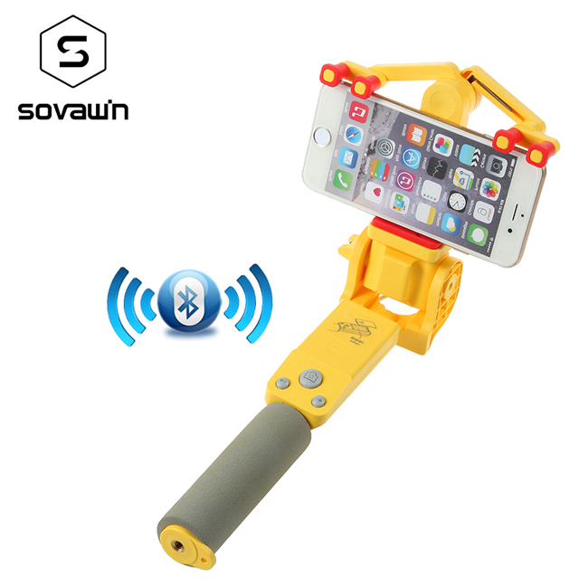 cb66d0636866a0 Sovawin Smart Wireless Bluetooth Selfie Stick Electric 360 Degree Rotation  Extendable Monopod Universal for Smartphone-in Selfie Sticks from Consumer  ...