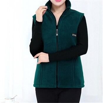 UHYTGF 2018 New Fleece Women Vests Autumn Korean Plus size Sleeveless Jackets Ladies Fashion Zipper Casual Waistcoat Female 442 8
