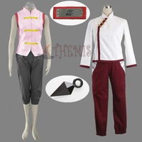 Athemis Anime Outfit Naruto Tenten Cosplay Costume Lovely Unisex Uniform With Orignal Red Headband Gift Halloween