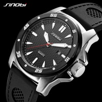 2019 Men Watches Relogio Masculino Sinobi Brand Luxury Waterproof Watch Black/White Silicone Casual Quartz Military Wristwatches