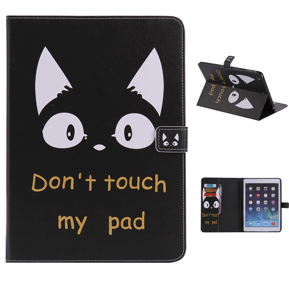 QUWIND Do Not Touch My Pad Cat Support Protective Cover Case for iPad Air 1 2 iPad Mini 1 2 3 iPad 2 3 4 Pro 10.5 iPad 2017 10mm black white gray computer tv cable sleeve tidy wire guide tool organizing tube spiral wrapping band spring clamp