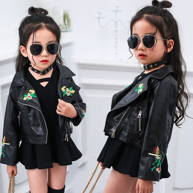 diseño encantador comprar popular nuevos productos para € 21.17 6% de DESCUENTO|Dangdangshu otoño niños chaqueta Pu cuero niñas  chaquetas ropa niños prendas de abrigo para bebé niña dibujos animados ropa  ...