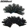 12 pairs Легкость удобно черный полиэстер, нейлон защитные перчатки работы, электрика защитные перчатки Безопасности На Рабочем Месте Поставки