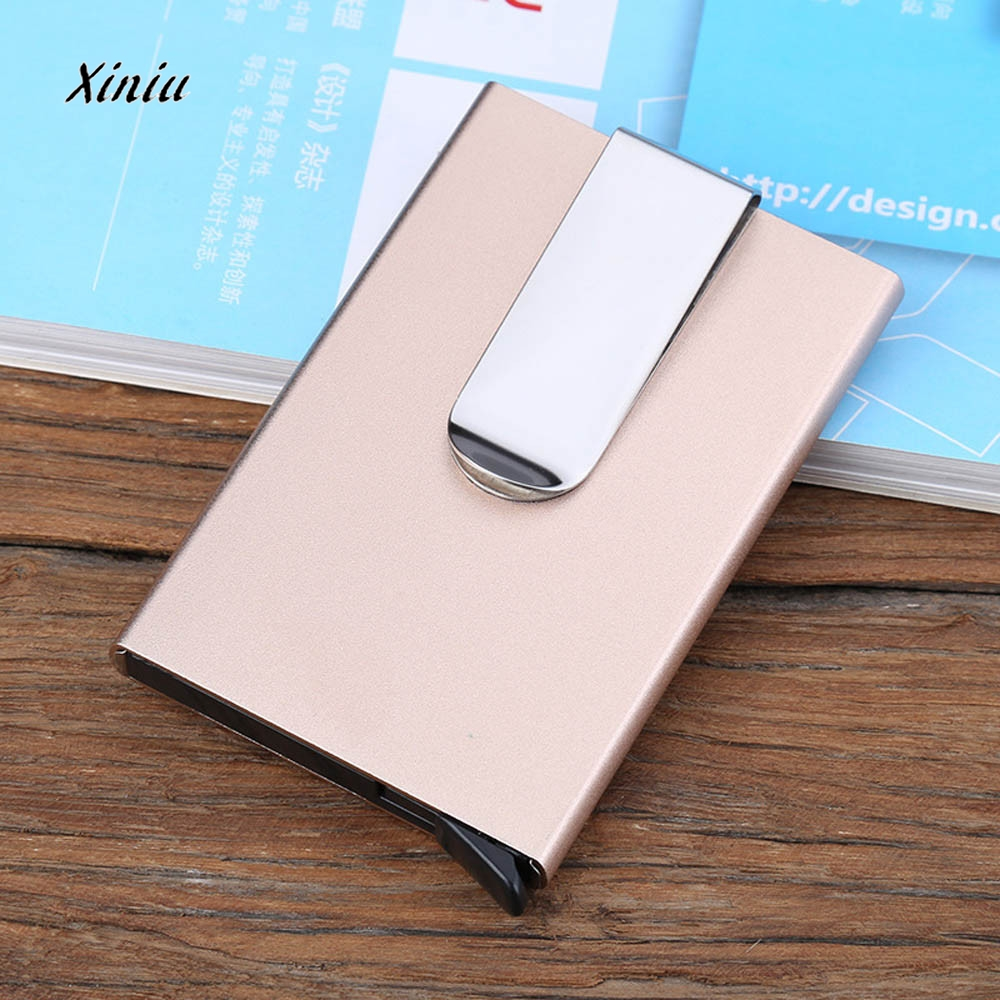 2018 New Men Women Aluminum Slim Mini Business Card Holder Metal ID ...