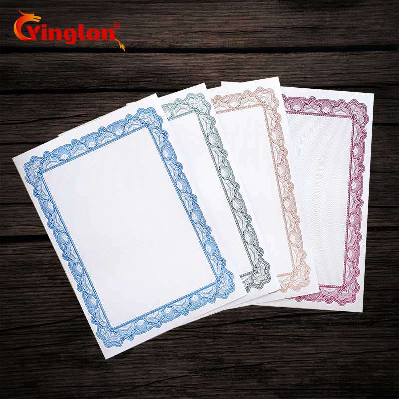 Free Shipping 25 Pcs/lot Thicken 180g Certificate Paper A4 Paper Printable Copy DIY Typesetting Printable Paper Have Shading