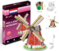 Cubicfun Mini 3D Puzzle Holland Dutch Windmill 20pcs 13.2*13.2*19 cm S3005