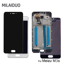 купить LCD Display For Meizu M3S Touch Screen Digitizer Assembly Replacement Black White No Frame 5.0'' 1280x720 100% Tested по цене 870.51 рублей