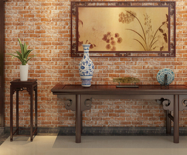 3D Brick Wallpapers Antique Wallpaper Chinese style Restaurant Hotel ...