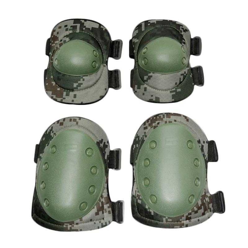 Военное дело защиты Kneepad тактический наколенники набор боевой Airsoft Пейнтбол Шестерни защитную колено локоть протектор