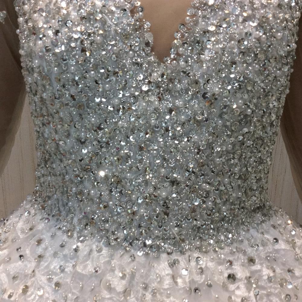 SuperKimJo Vestido De Noiva 2018 Real Photo kristallen trouwjurken - Trouwjurken - Foto 6