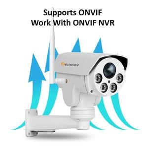 Image 5 - Einnov PTZ IP מצלמה 4X זום 1080P חיצוני אלחוטי אבטחת בית מצלמה Wifi וידאו מעקב אודיו שיא Onvif HD IR Wi fi