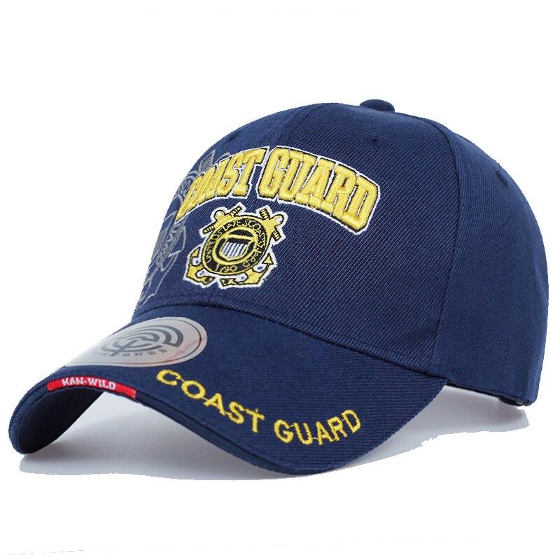 Casual USA Coast Guard Army Baseball Cap Bone US Navy Hat Snapback Caps Men Women Balck Tactical Cap Casquette