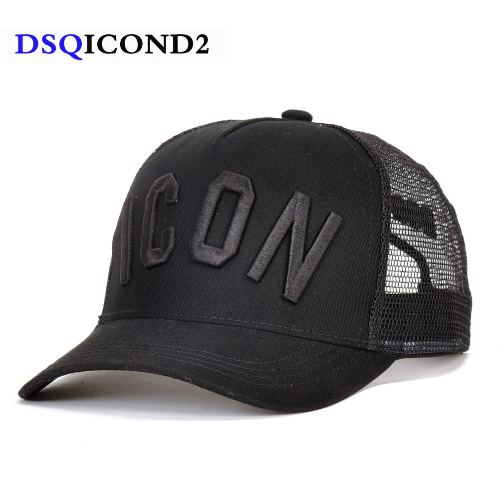 DSQICOND2 Cotton Summer   Baseball     Cap   for Men Women Embroidery ICON Black Dad Hat Hip Hop DSQ Trucker   Cap   Hombre Gorras Casquette