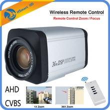 무선 원격 컨트롤러 36X 광학 줌 HD AHD 1080P 자동 초점 CCTV 상자 카메라 AHD DVR