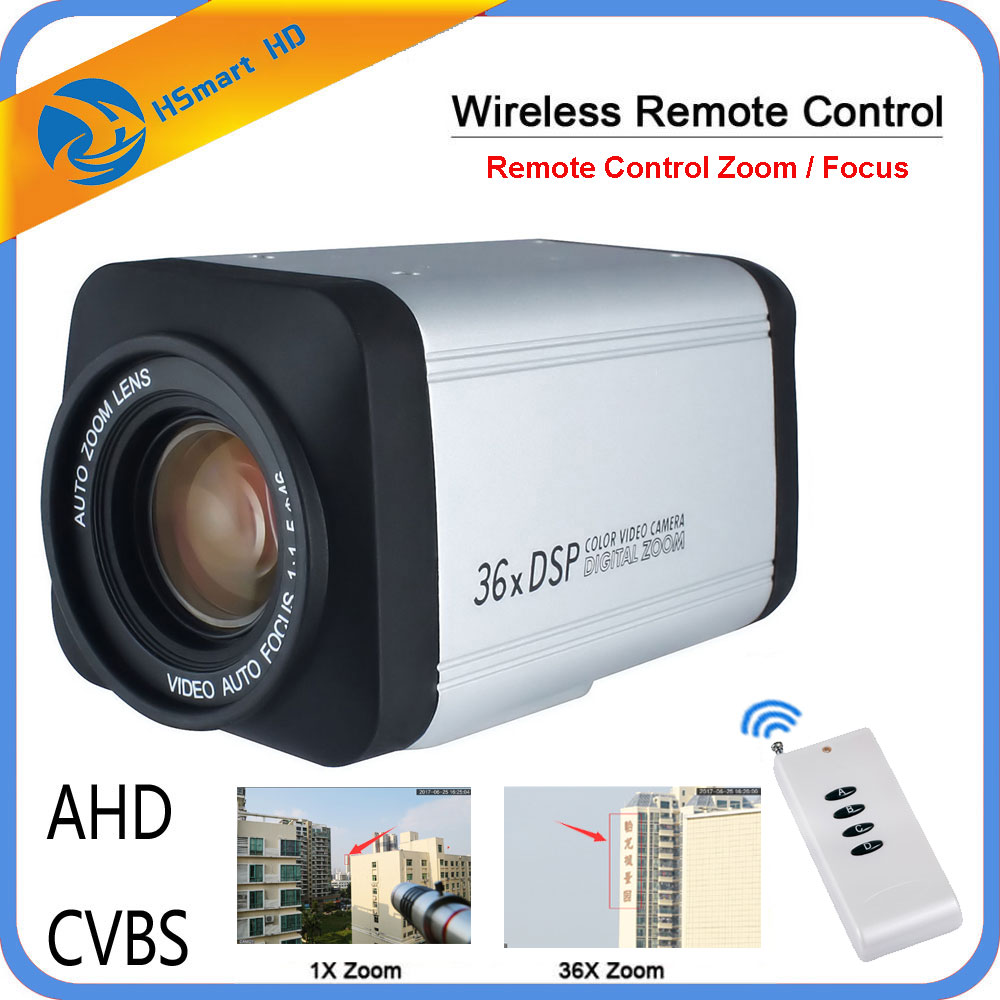 Wireless Remote controller 36X Optical Zoom HD AHD 1080P Auto Focus CCTV Box Camera For AHD DVR-in Surveillance Cameras from Security & Protection