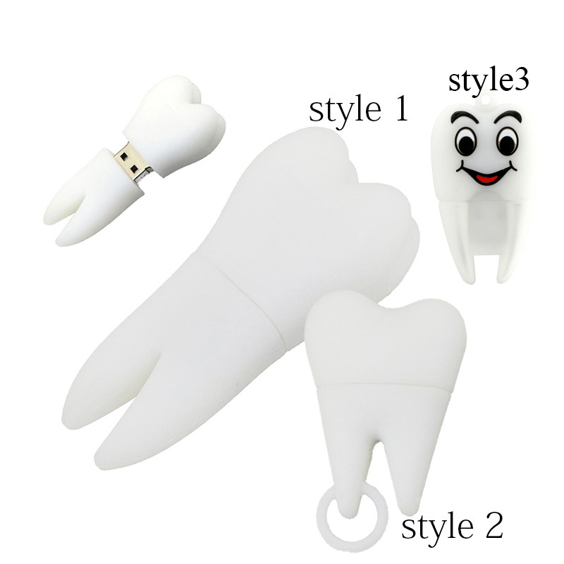 Novel Tooth Style USB 2.0 Flash-Laufwerke 64 GB 32 GB 16 GB 8 GB 4 GB - Externer Speicher