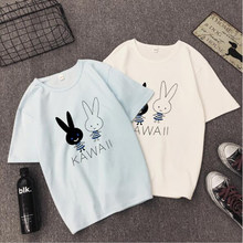 KAWAII Print T shirt Women Spring Summer New Style Short Sleeve Round Neck Women Tops Casual Loose Tshirt Women(China)