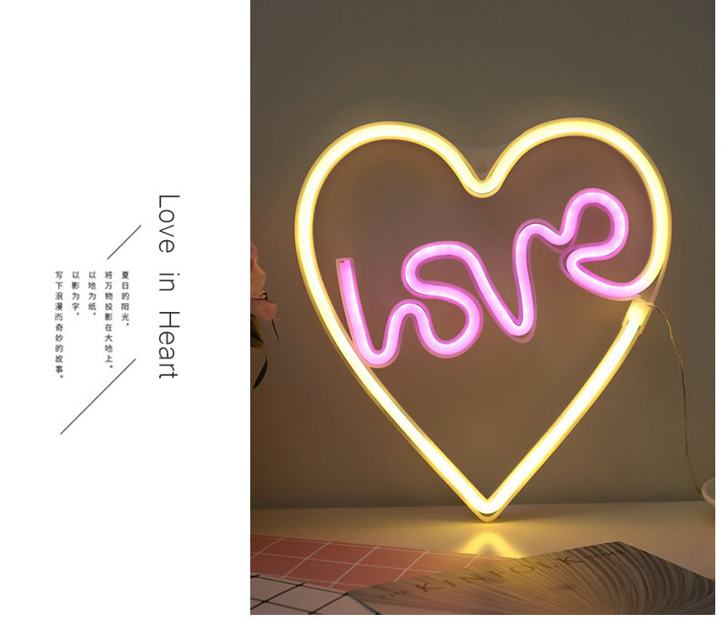 Creative Love in Heart Led Neon Sign Light for Holiday Xmas Party Wedding Decorations Bar Home Wall Decor Fashion Lighting (7)