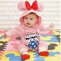 2016 Mamelucos Bebe ropa de Color Rosa Minnie hoodies Ropa de recién nacido Mameluco Largo Del Bebé de La Muchacha infantil roupa mono recem nascido