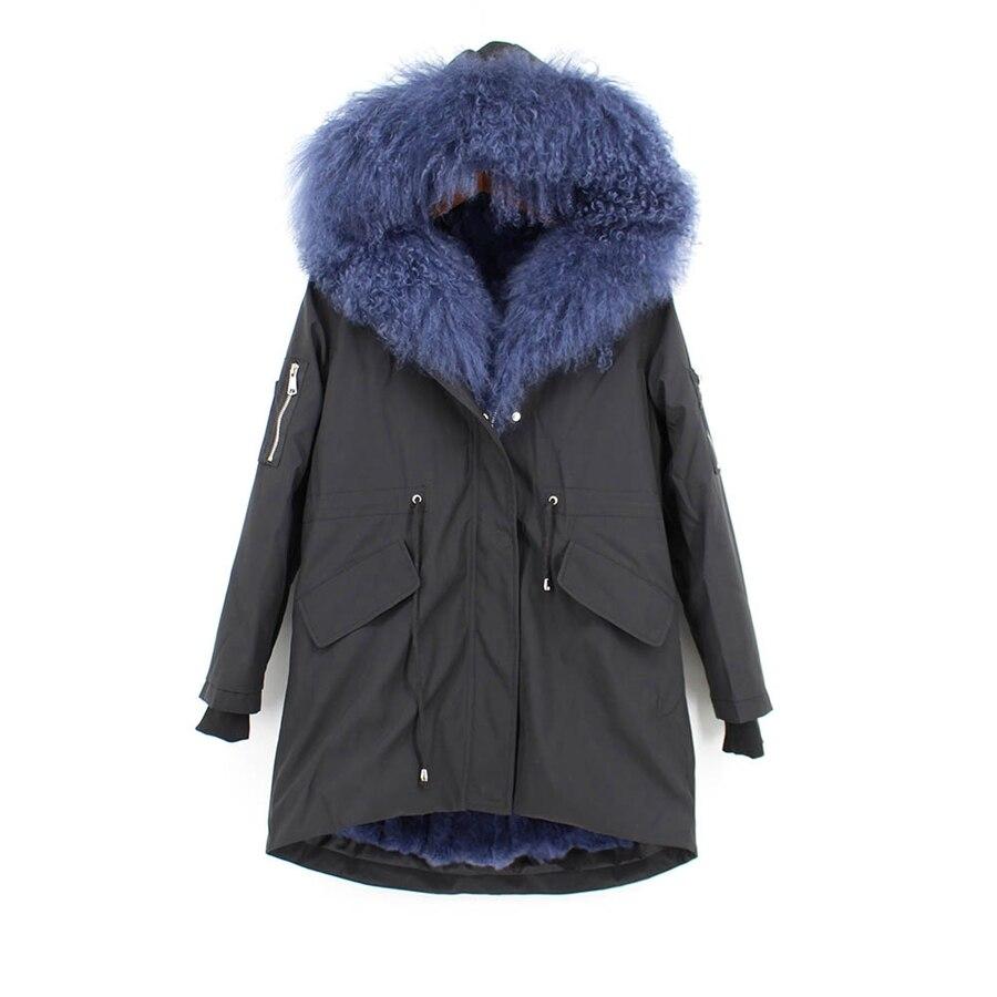 Parent-childs natural fur parkas with hood (20)
