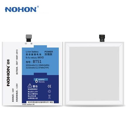 Hot NOHON <font><b>Battery</b></font> Original High Capacity Replacement <font><b>Battery</b></font> Bateria 3150mAh Free Tool For <font><b>Meizu</b></font> <font><b>MX5</b></font> BT51