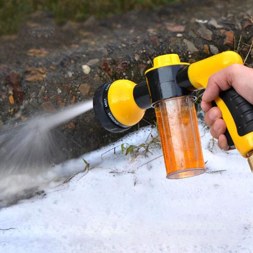 Hochdruck Wasser Gun Sprayer mit 100ml Waschmittel Container, 8 Modi, sauber Schaum & Wasser Sprayer Pistole für Auto Waschen/Home Sauber