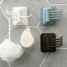Rotary Hook, Strong Viscose Towel Hanger, Bathroom Wall Shelf, Perforation-Free And Traceless Sticking Hook