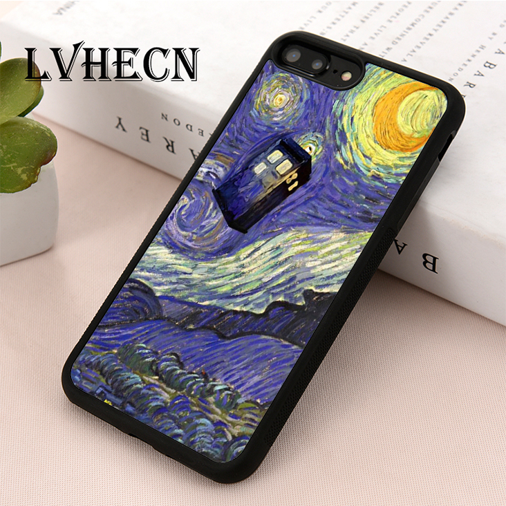 Phone Bags & Cases Lvhecn Tpu Skin Phone Case Cover For Iphone 5 5s Se 6 6s 7 8 Plus X Xr Xs Max Doctor Who Tardis Starry Night Art Relieving Heat And Sunstroke Cellphones & Telecommunications