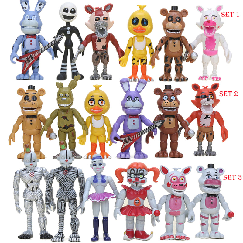 10cm FNAF PVC Action Figures Sister Location Chica Mangle Foxy Ballora Puppet Freddy Fazbear Dolls Five Nights At Freddy's Toys