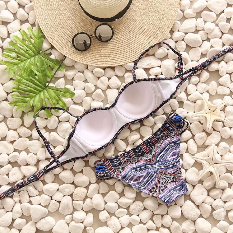 Swimwear Women Swimsuit Push Up Swimwear Female 19 Sexy Bandeau Bikini Ladies Brazilian Beach Bathing Suit bandage Bikini Set 13